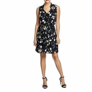 Rachel Roy  2XL Black Floral Slip dress K7-08